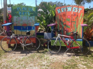 The bikes were happy to take a short break upon reaching Key Largo.